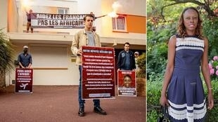 """You will never hurt me,"" French MP Sira Sylla replies to far-right protesters, who photographed themselves outside her office with signs reading, ""Help French people, not Africans""."