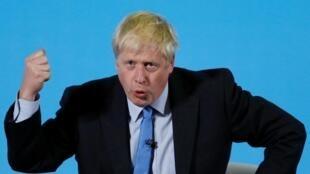 La polémique sur le communiqué de Scotland Yard s'est immiscé dans la campagne pour le poste de Première ministre. Ici, le candidat Boris Johnson à Colchester, le 13 juillet 2019.