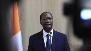 Le président ivoirien Alassane Ouattara, en 2014.