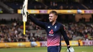 England batsman Jason Roy acknowledges the applause after being dismissed by Australia's for 180 during their one-day international cricket match played at the MCG in Melbourne on January 14, 2018.