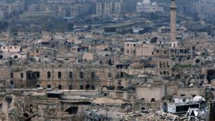 La ville d'Alep, photographiée depuis la citadelle le 31 janvier 2017.