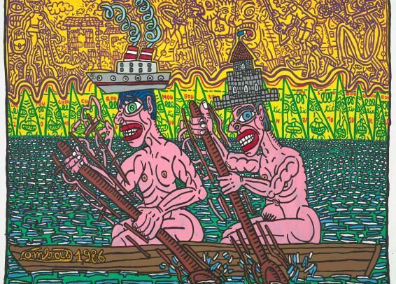 Jojo et Momo font de l'aviron, 1986.