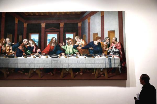 Bữa ăn tối cuối cùng (L'Ultima Cena) bức bích họa nổi tiếng của Léonard de Vinci tại bảo tàng Louvre 10/2019