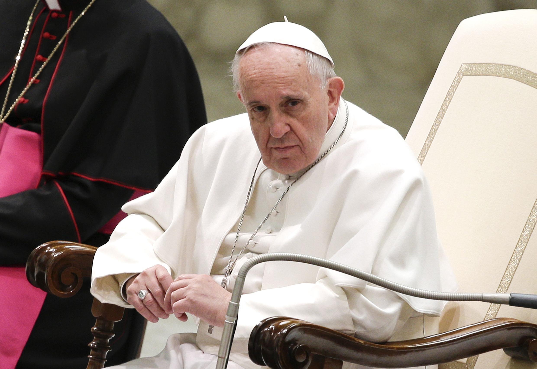 Giáo Hoàng Phanxicô tham gia một sự kiện tại Vatican ngày 14/03/2015.