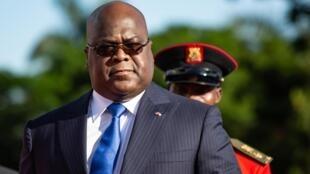 Rais wa DRC Felix Tshisekedi amefanya ziara ya siku mbili nchini Uganda. Hapa alikuwa Entebbe, Novemba 9, 2019.