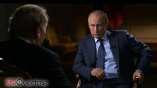 Владимир Путин в студии канала CBS news.