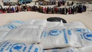 Trong tháng 08/2011, tổ chức Chương trình Luơng thực Thế giới phân phát khẩu phần ăn cho 1 000 người mỗi ngày tại Somalia