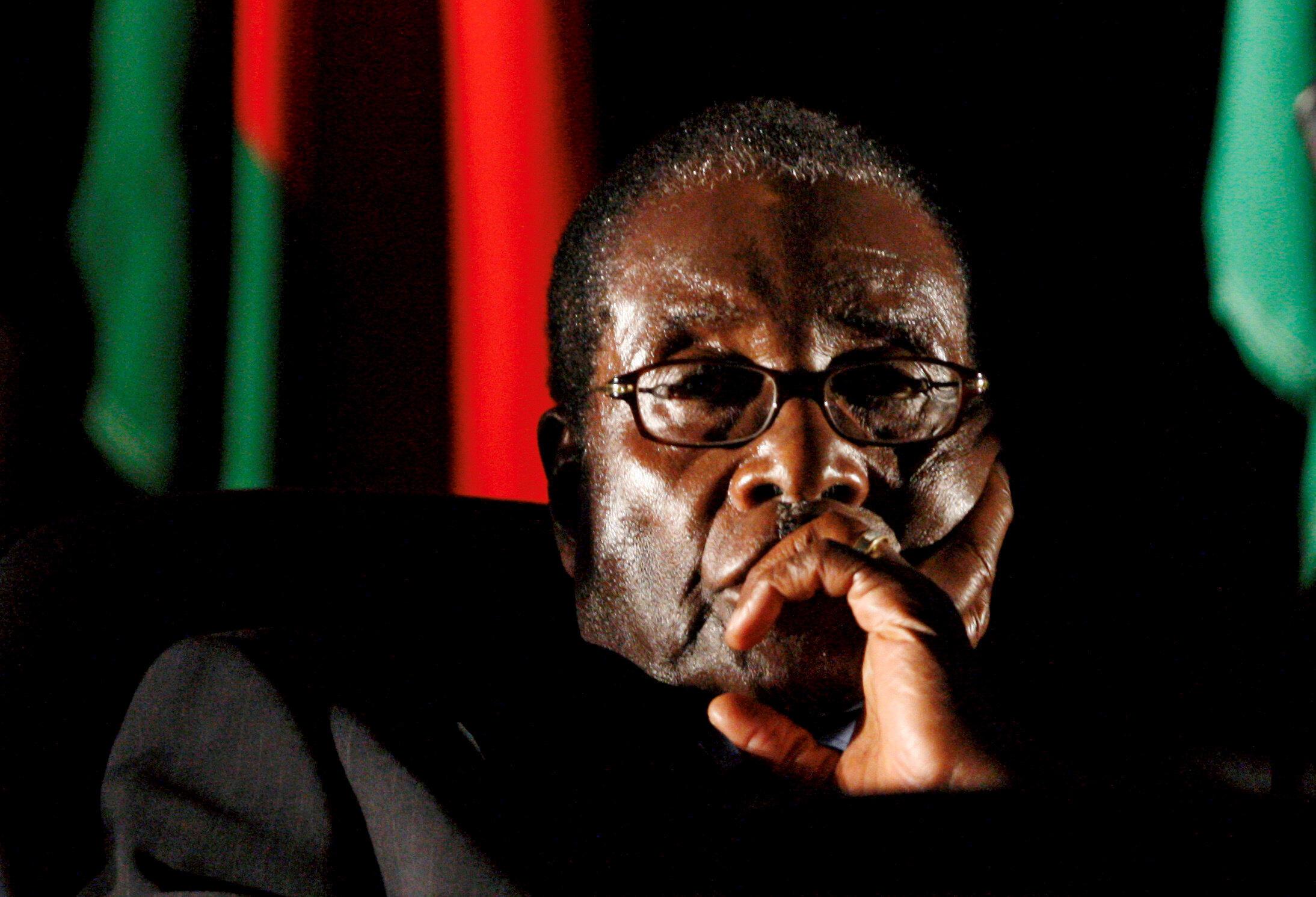 Robert Mugabe, antigo presidente do Zimbabué.