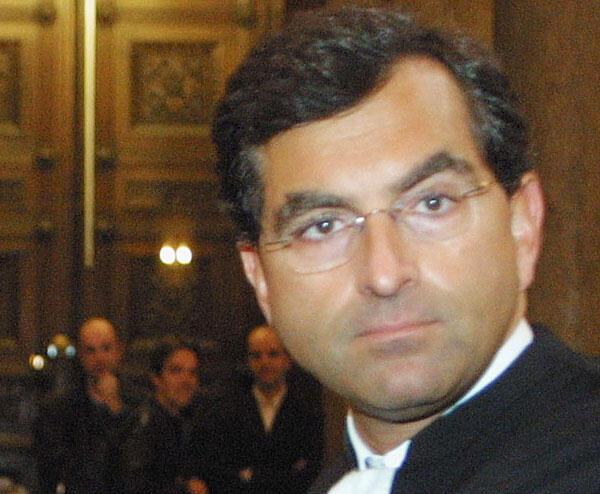 Maître Ralph Boussier, avocat du Royaume du Maroc. Ici, quelques instants avant le début d'un procès au tribunal de Lyon, le 12 décembre 2014.