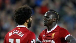 L'Egyptien Mohamed Salah et le Sénégalais Sadio Mané décisifs avec Liverpool