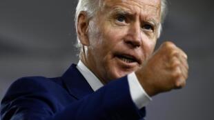 Le candidat démocrate à la présidentielle américaine, Joe Biden, lors d'une conférence de presse à Wilmington (Delaware), le 28 juillet 2020.