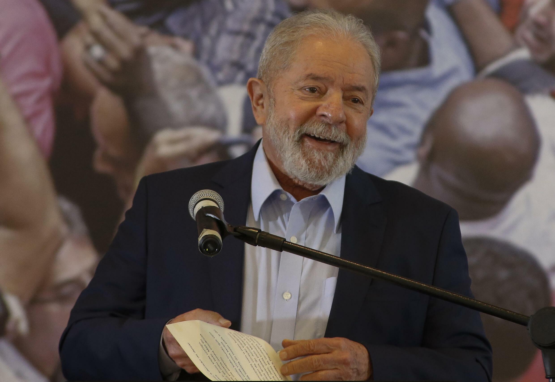 El expresidente brasileño Luiz Inacio Lula da Silva, el 10 de marzo de 2021 en Sao Bernardo do Campo, estado de Sao Paulo, Brasil