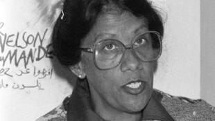 Une photo Dulcie September, militante sud-africaine abattue dans les bureaux de l'ANC, à Paris, le 29 mars 1988.