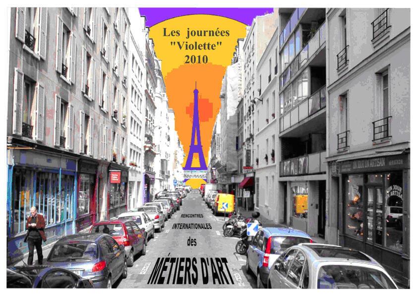 Афиша международной встречи мастеров прикладного искусства в Париже.