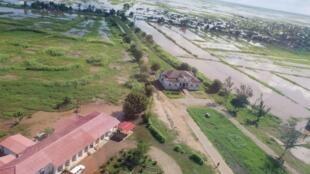 Fotografia panorâmica de Buzi, no centro de Moçambique.