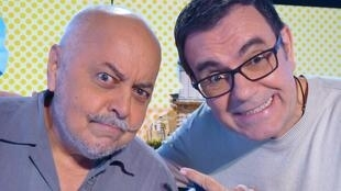 Laureano Márquez y Claudio en los estudios de RFI
