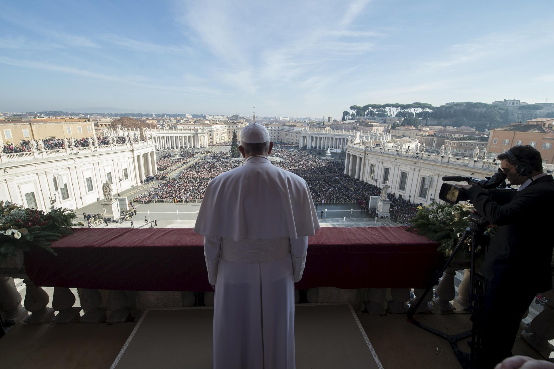 Papa Francis katika eneo la St Peter (picha ya kumbukumbu).