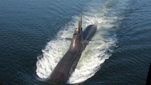 Image d'archive: Un sous-marin allemand de classe Dolphin.