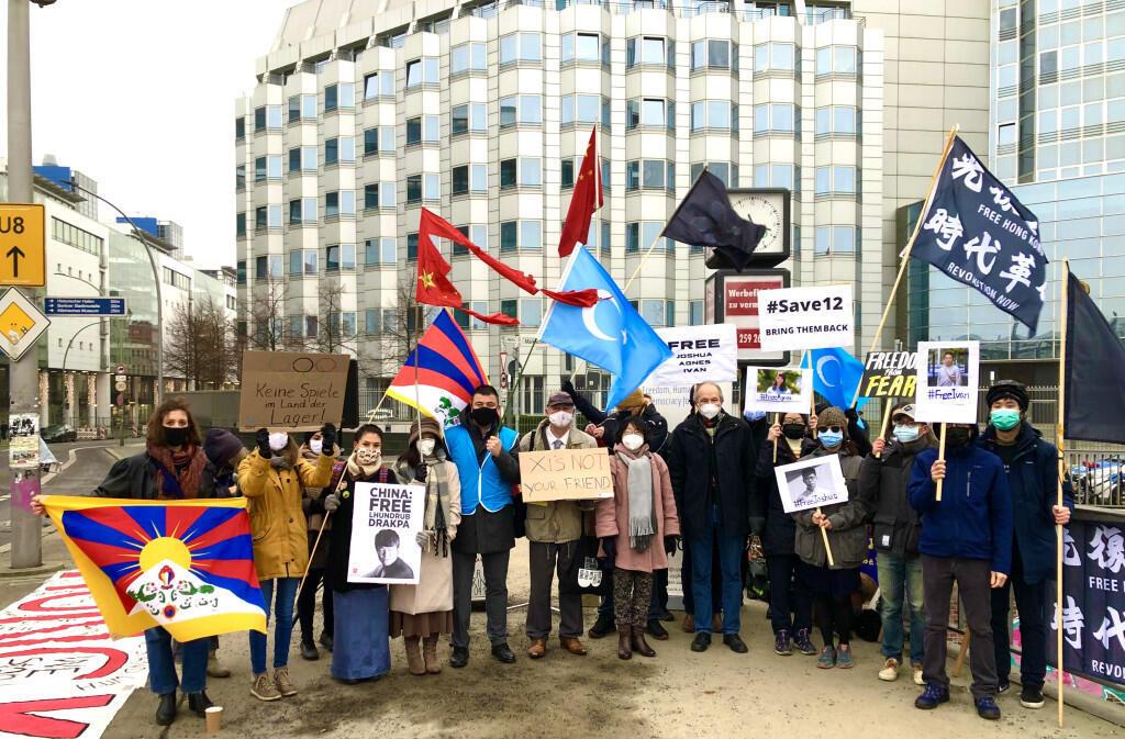 manif à Berlin-Journée des droits de l'homme