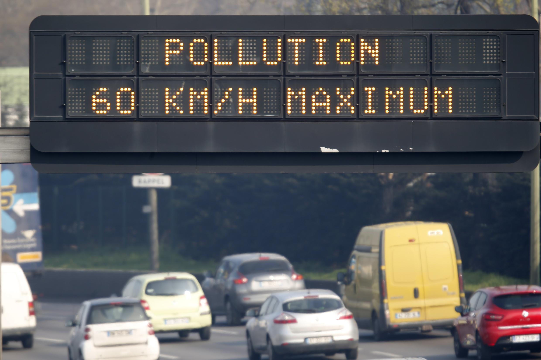 Sur le périphérique parisien, la vitesse a été limitée à 60 km/heure, un jour de pic de pollution. (Photo d'illustration)