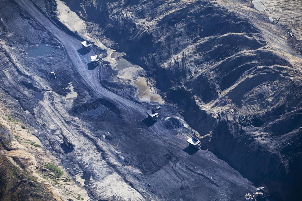 Mina de carvão a céu aberto