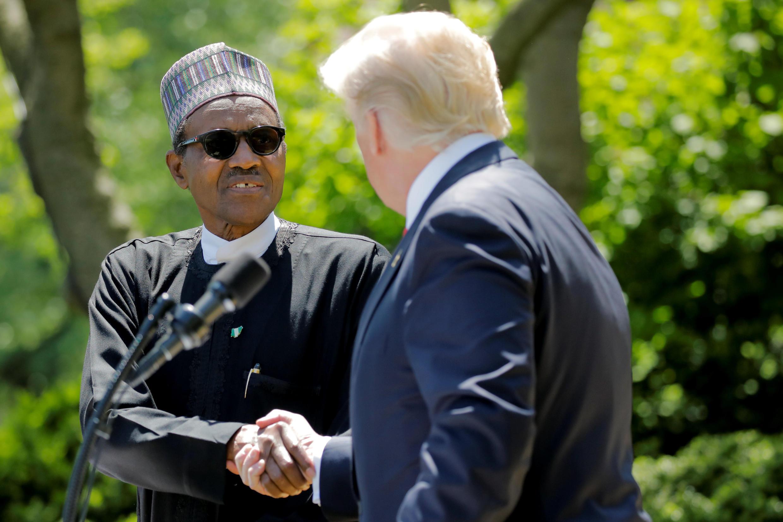 Le Nigérian Muhammadu Buhari a été reçu à la Maison Blanche par Donald Trump, le 30 avril 2018.