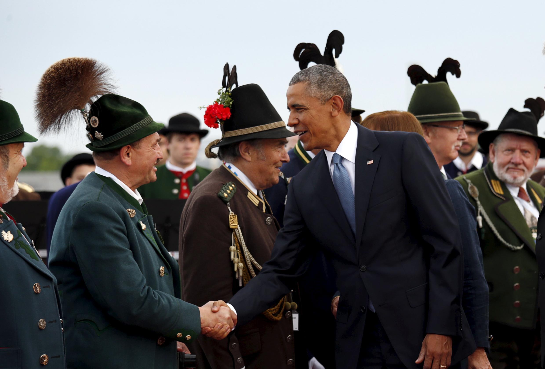 le président Obama, à son arrivée en Allemagne, le 7 juin 2015.