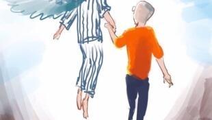 民間描繪劉曉波先生和他的妻子劉霞女士的藝術圖片