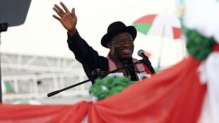Le président sortant, Goodluck Jonathan.