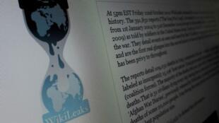 Page d'accueil du site WikiLeaks.