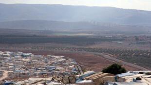 Sansanin yan gudun hijira a kan iyaka da Turkiya da Syria