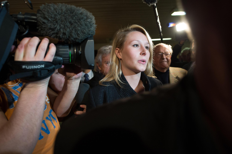 Marion Maréchal-Le Pen last month