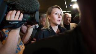 La député FN du Vaucluse Marion Maréchal-Le Pen, le 29 mars 2015 au QG du parti à Carpentras.