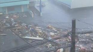 Guguwar Haiyan a lokacin da take barna a Philippines