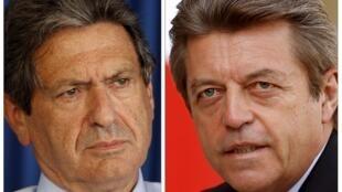 Hai Quốc vụ khanh Pháp vừa từ chức, ông Christian Blanc (trái) và Alain Joyandet (phải).