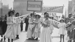 Christina Broom (1862 - 1939). As suffragettes em Londres