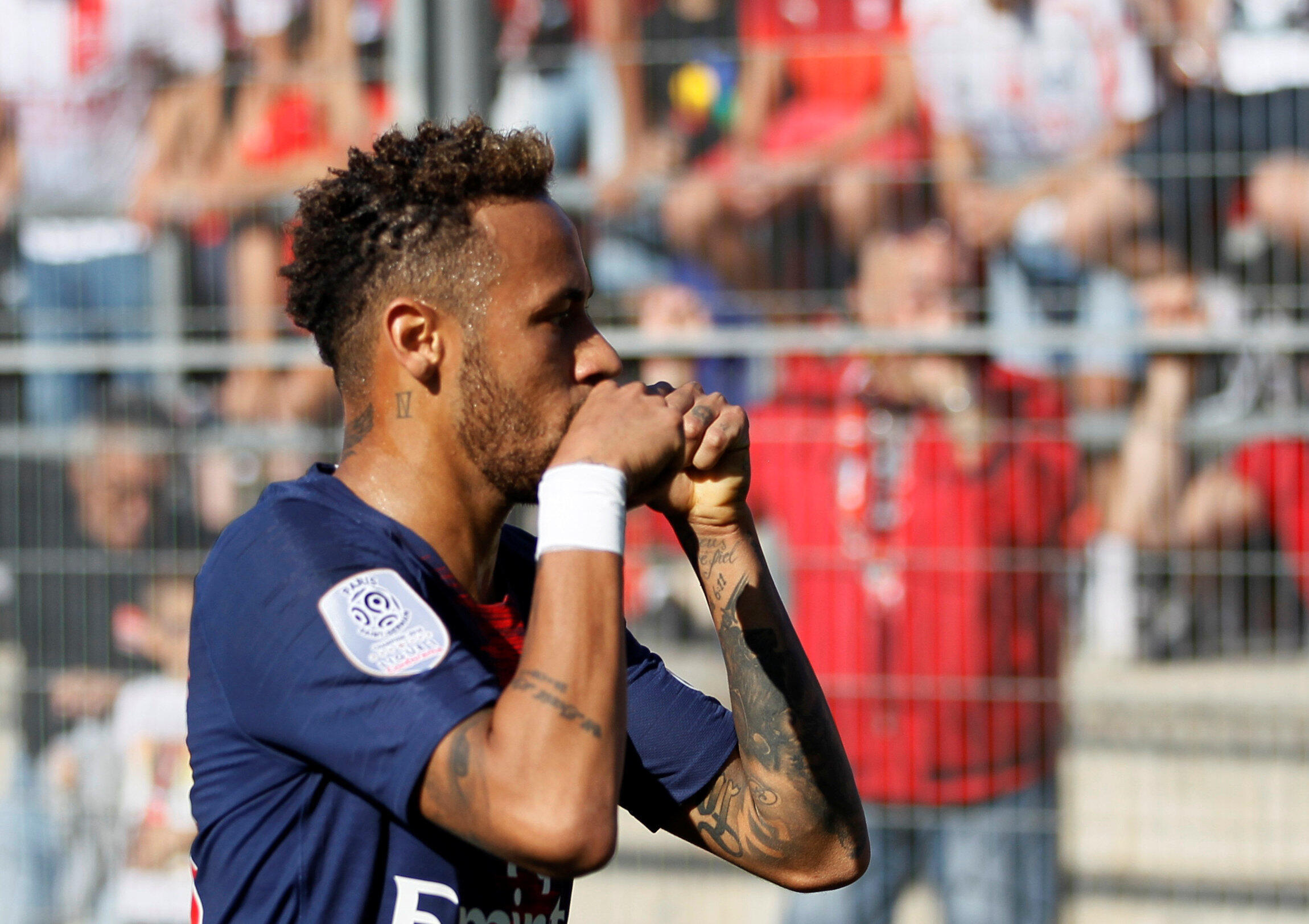 Neymar's brace against Nice took his tally up to seven goals this season.