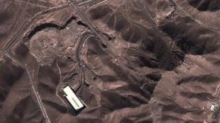 Foto satelital de las instalaciones nucleares de Fordo, Irán, 16/11/2012.
