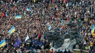 Акция протеста в Киеве 6 октября 2019 г.