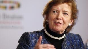 L'ancienne président irlandaise Mary Robinson, à Londres, en octobre 2012.