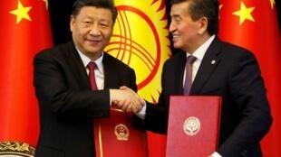 图为中国国家主席习近平访问吉尔吉斯斯坦