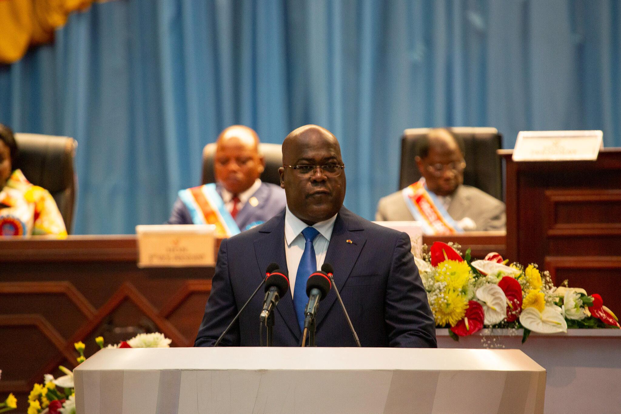 Félix Tshisekedi, à Kinshasa, le 13 décembre 2019 (image d'illustration). Le parti du président, l'UDPS, veut enquêter et, le cas échéant, sanctionner dans ses rangs.
