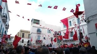 Tunisians gather to commemorate the revolution