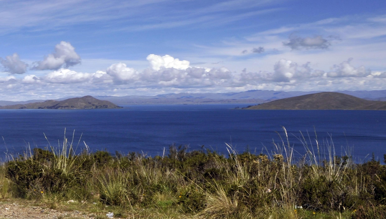 Photo prise le 2 juin 2013 du lac Titicaca en Bolivie.