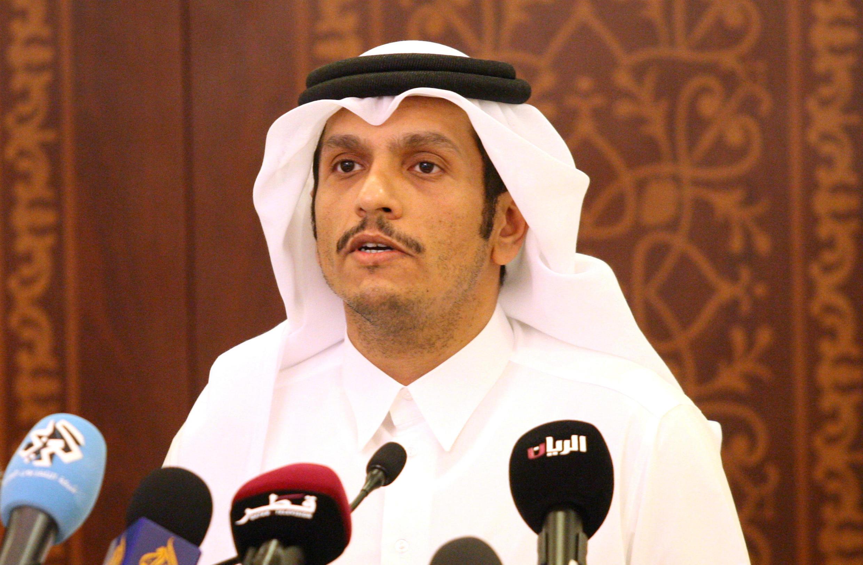 Le chef de la diplomatie du Qatar, cheikh Mohamed ben Abderrahmane Al-Thani,