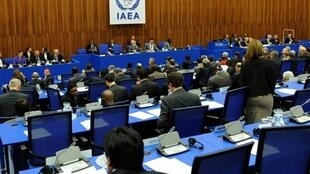Les délégués de l'AIEA lors d'une réunion du Conseil à Vienne, le 27 septembre 2010.