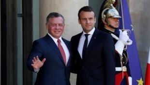 Le président Macron a reçu le roi Abdallah II de Jordanie ce lundi 19 juin 2017 à l'Elysée.