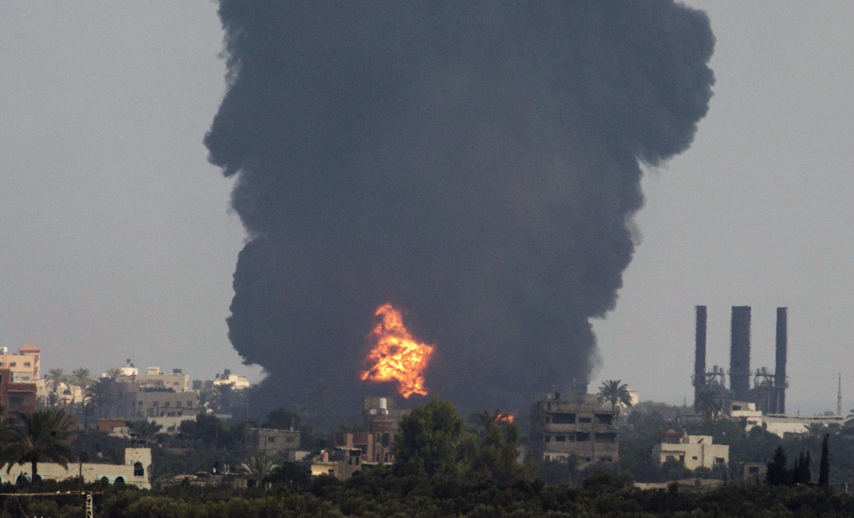 Gaza, una ciudad devastada, este 29 de julio de 2014.