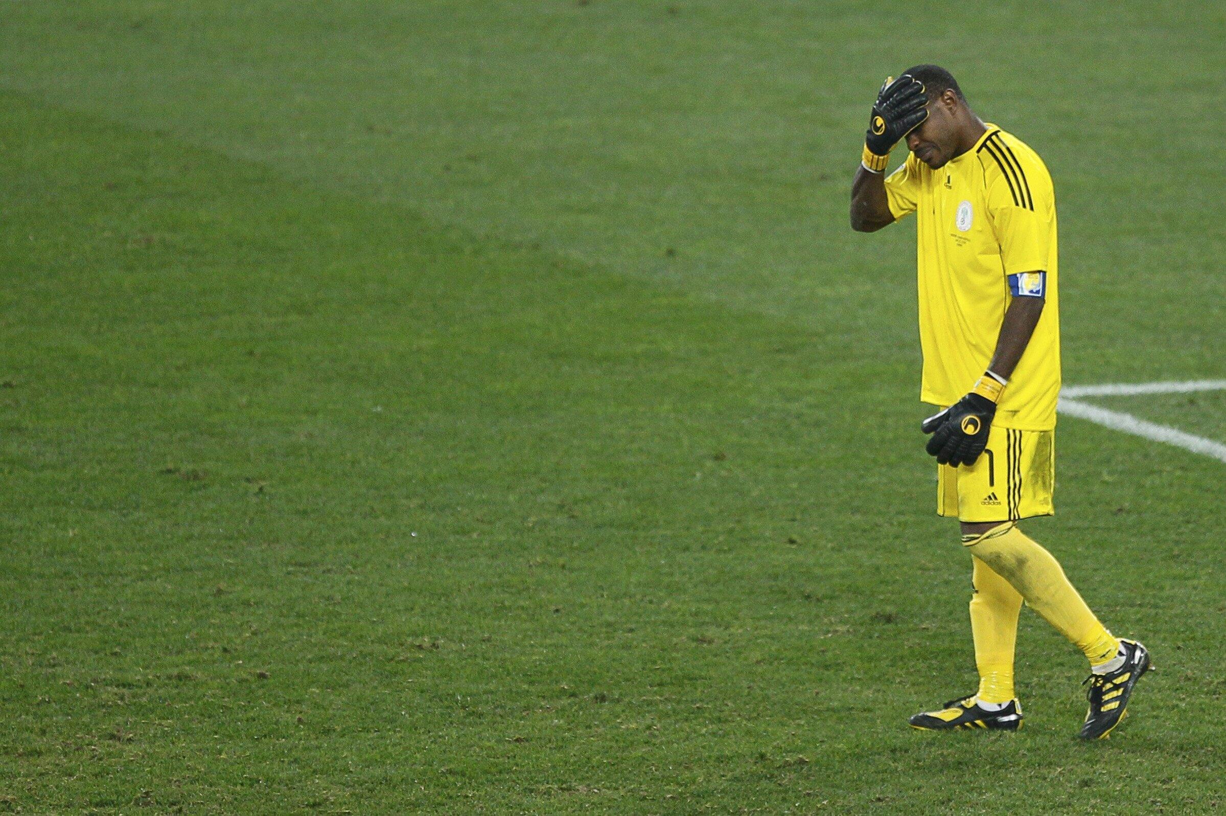 Le gardien de but Vincent Enyeama lors de la défaite contre la Corée du Sud le 22 juin à Durban.