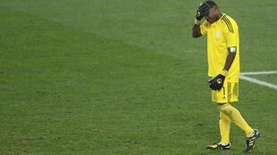 Nigerian goalkeeper Vincent Enyeama during the match his team lost to South Korea
